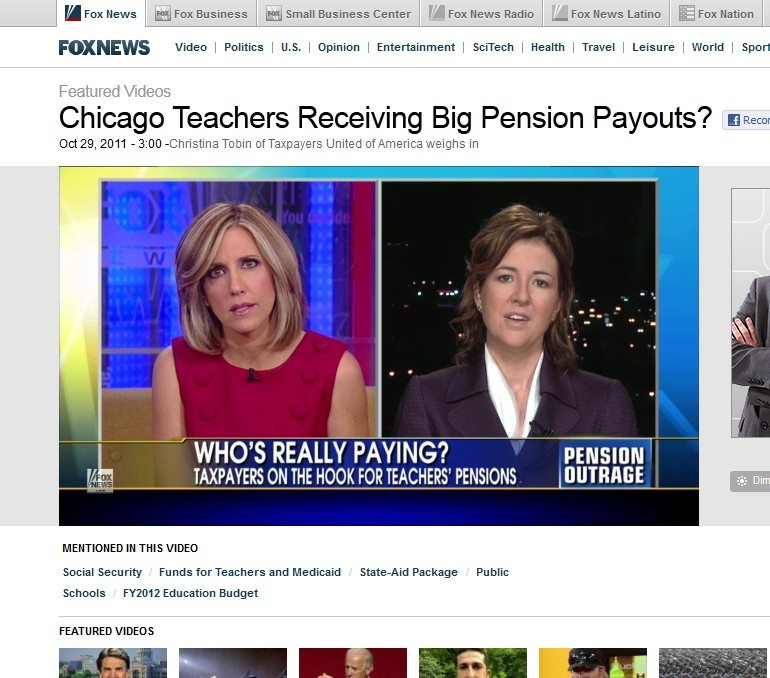 Fox News Channel | Chicago Teachers Receiving Big Pension Payouts?