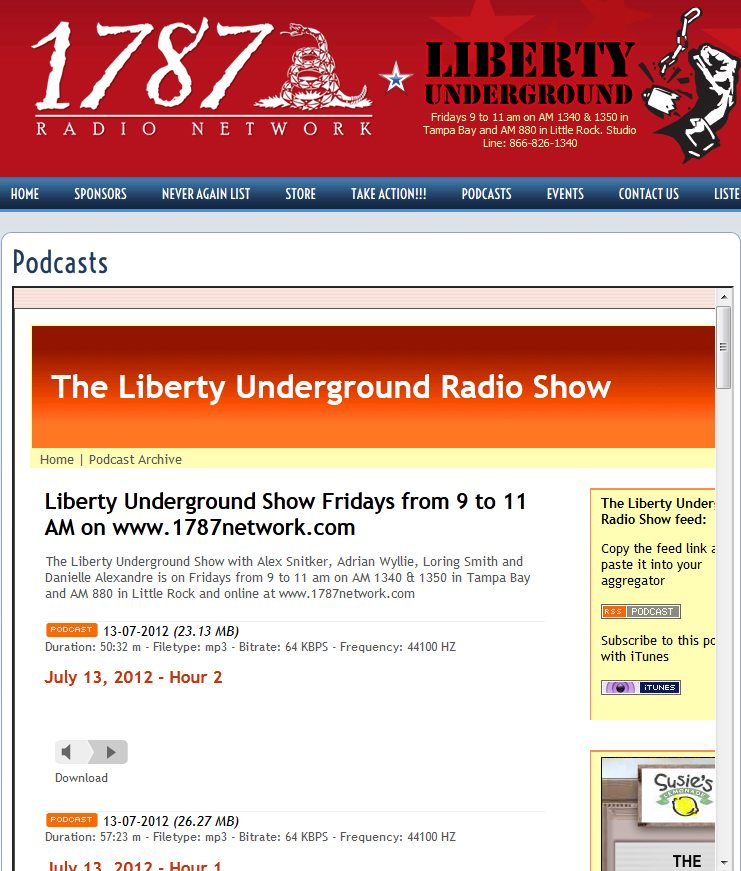 1787 Radio Network | Liberty Underground featuring Rae Ann McNeilly