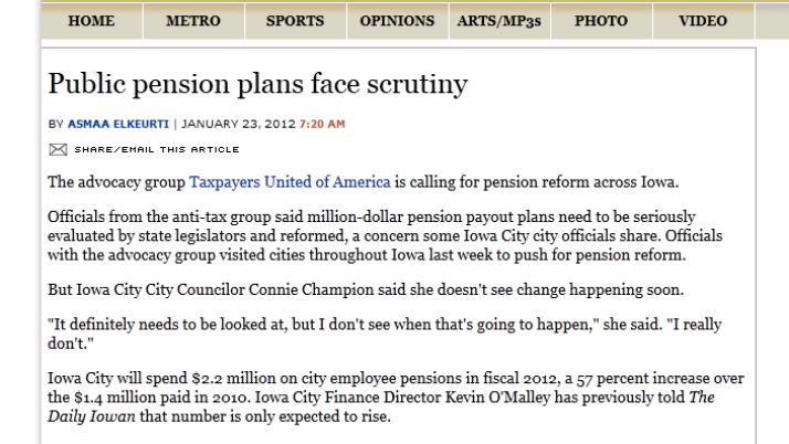 The Daily Iowan | Public pension plans face scrutiny