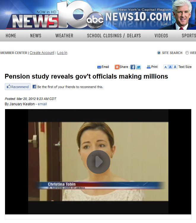 ABC News 10 | Pension study reveals gov't officials making millions