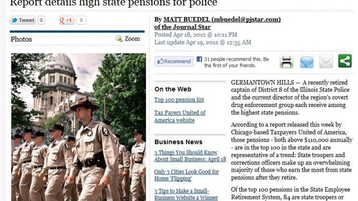 Peoria Journal Star | Report details high state pensions for police