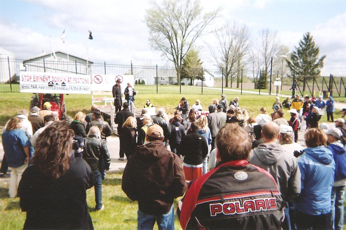 Activists Hold Rally Against Eminent Domain, Peotone Government Airport
