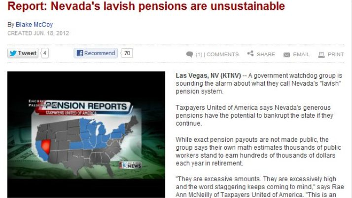 KTNV Channel 13 Action News | Report: Nevada's lavish pensions are unsustainable