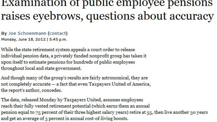 Las Vegas Sun | Examination of public employee pensions raises eyebrows, questions about accuracy