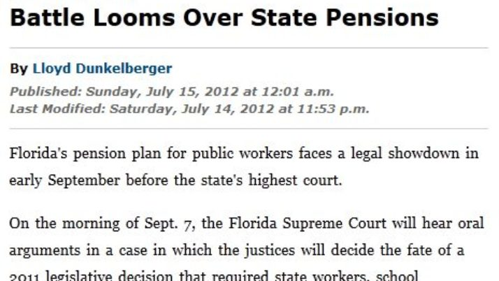 TheLedger.com | Battle Looms Over State Pensions