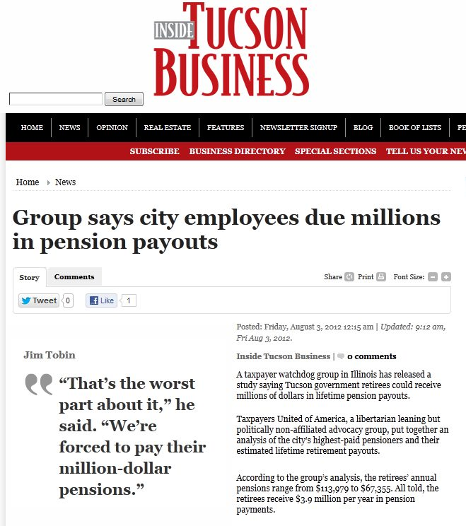 Inside Tucson Business | Group says city employees due millions in pension payouts