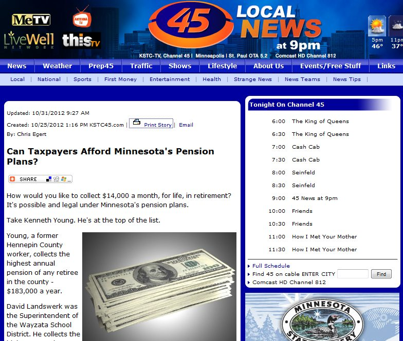 KSTC 45 | Can Taxpayers Afford Minnesota's Pension Plans?