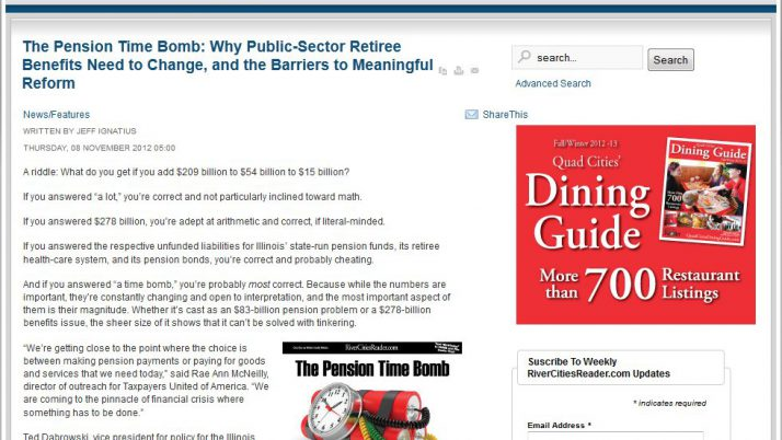 River Cities Reader | The Pension Time Bomb: Why Public-Sector Retiree Benefits Need to Change, and the Barriers to Meaningful Reform