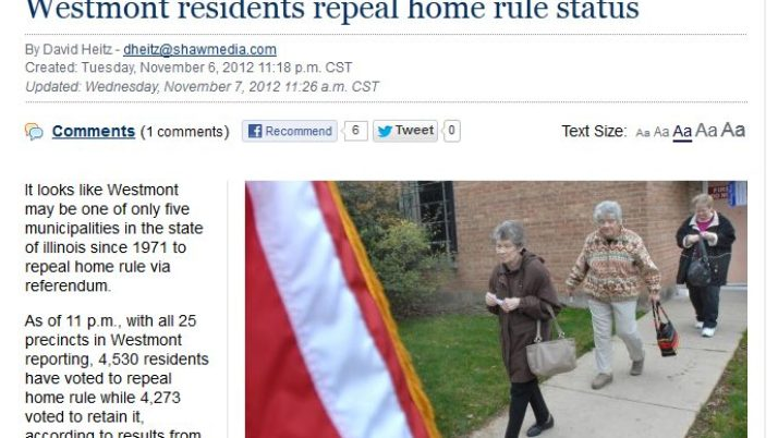 My Suburban Life | Westmont residents repeal home rule status