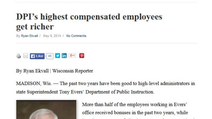 Wisconsin Reporter | DPI's highest compensated employees get richer
