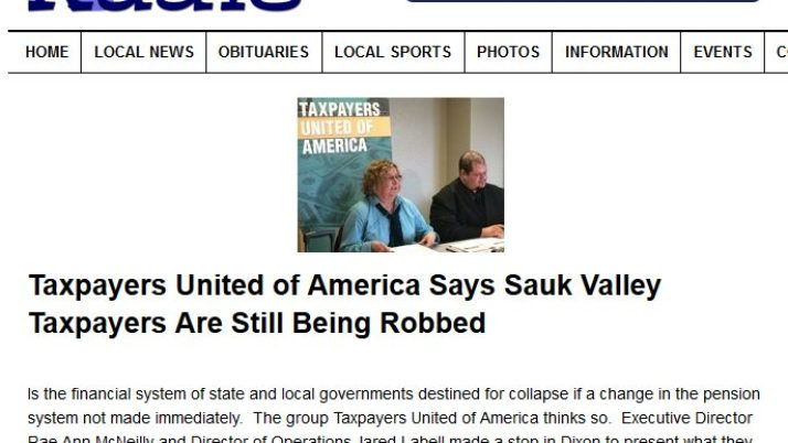 My Rock River Radio   Taxpayers United of America Says Sauk Valley Taxpayers Are Still Being Robbed