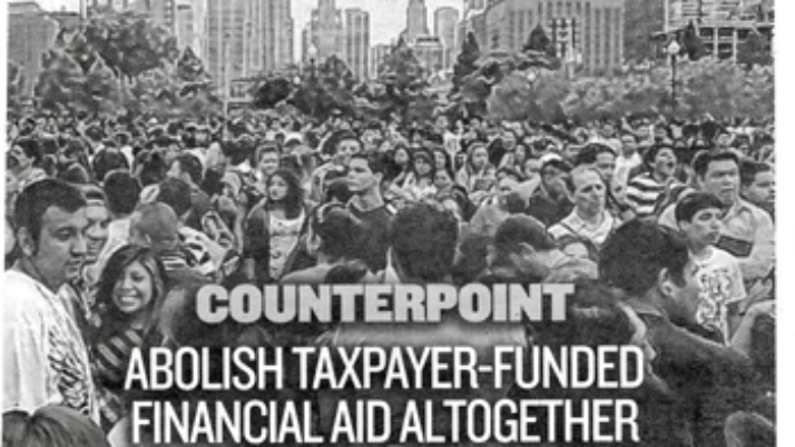 Chicago Sun-Times | Counterpoint: Abolish taxpayer funded financial aid altogether