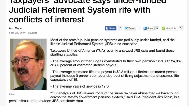 Madison Record|Taxpayers' advocate says under-funded Judicial Retirement System rife with conflicts of interest