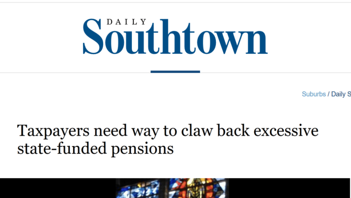 Chicago Tribune|Taxpayers need way to claw back excessive state-funded pensions
