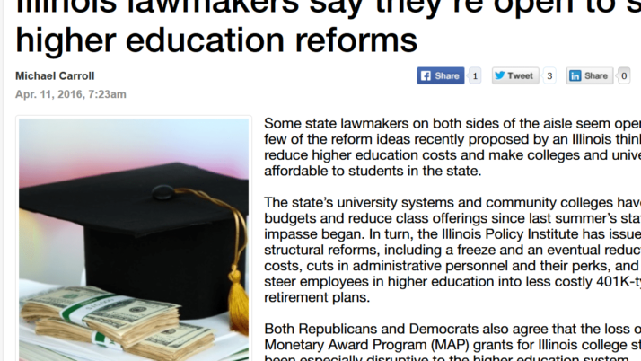 Madison Record|Illinois lawmakers say they're open to some higher education reforms