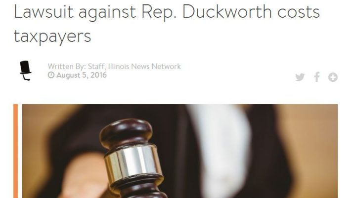 Illinois News Network|Lawsuit against Rep. Duckworth costs taxpayers
