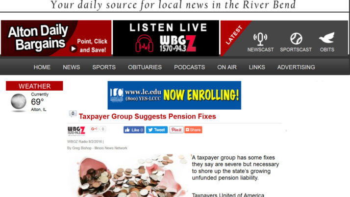 Alton Daily News|Taxpayer Group Suggests Pension Fixes