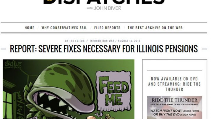 Dispatches|Report: Severe fixes necessary for Illinois pensions