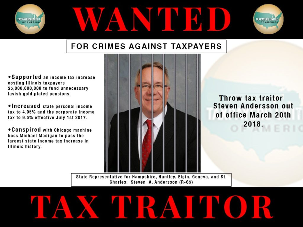 Tax Traitor Steve Andersson