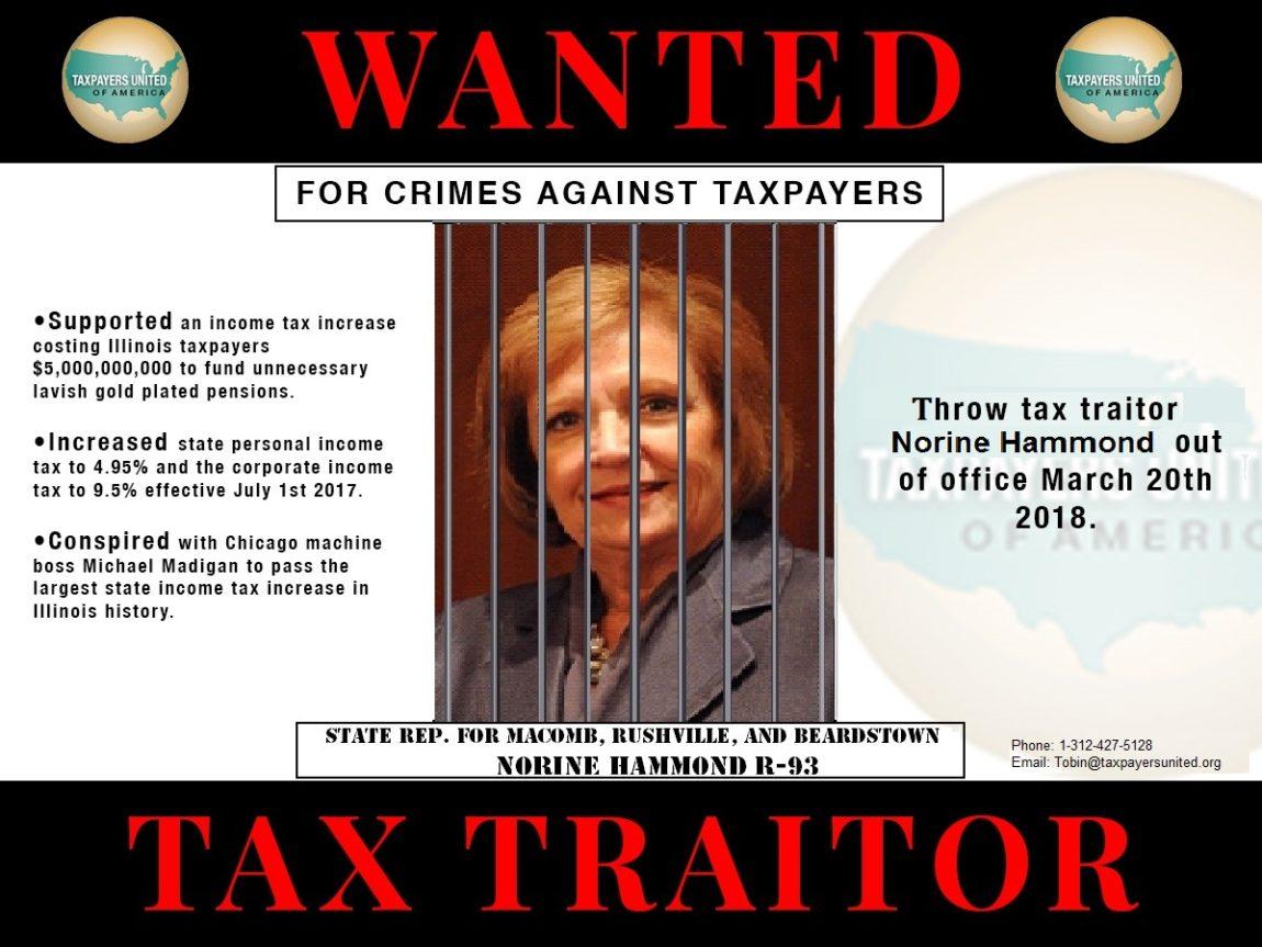 "Taxpayers Name St. Rep. Norine K. Hammond ""Taxpayer Traitor"""