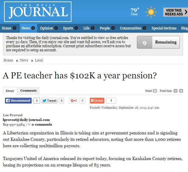 The Daily Journal | A PE teacher has $102K a year pension?
