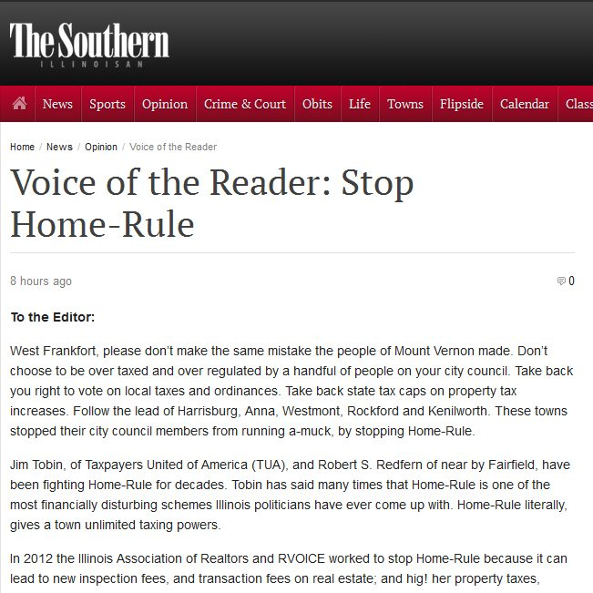 The Southern | Voice of the Reader: Stop Home-Rule