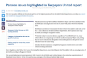 The Herald News | Pension issues highlighted in Taxpayers United report