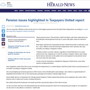 The Herald News   Pension issues highlighted in Taxpayers United report