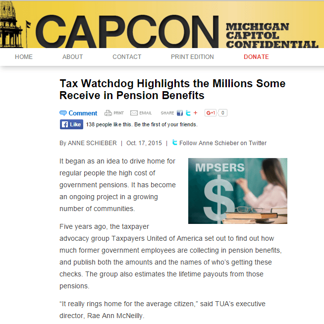 CAPCON|Tax Watchdog Highlights the Millions Some Receive in Pension Benefits
