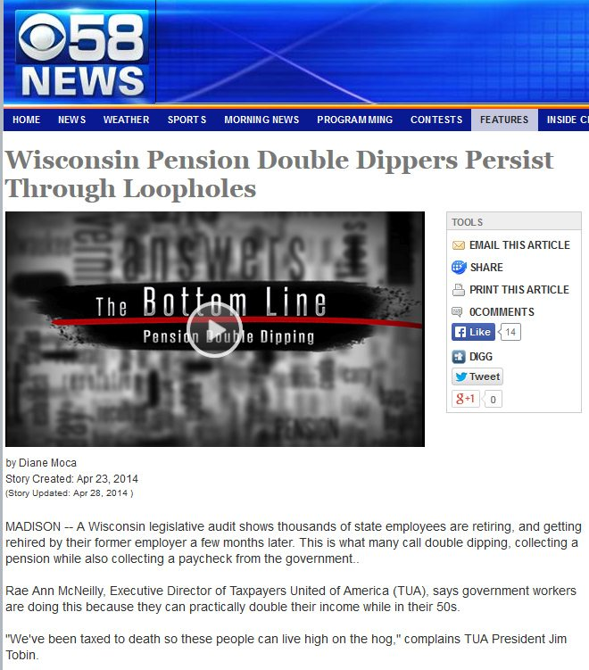 CBS 58 News | Wisconsin Pension Double Dippers Persist Through Loopholes