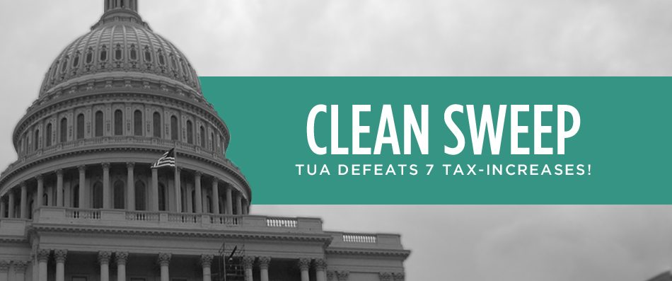 Clean Sweep: TUA Defeats All 7 Tax-Increase Referenda