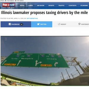 FOX 2 Illinois lawmaker proposes taxing drivers by the mile