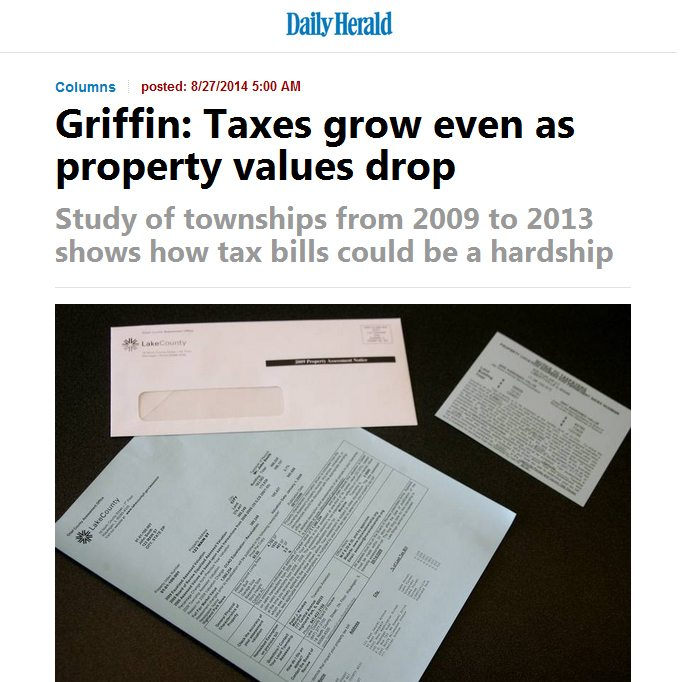 Daily Herald | Griffin: Taxes grow even as property values drop