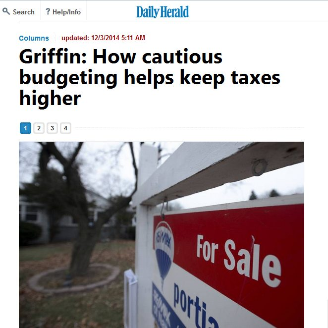 Daily Herald | Griffin: How cautious budgeting helps keep taxes higher