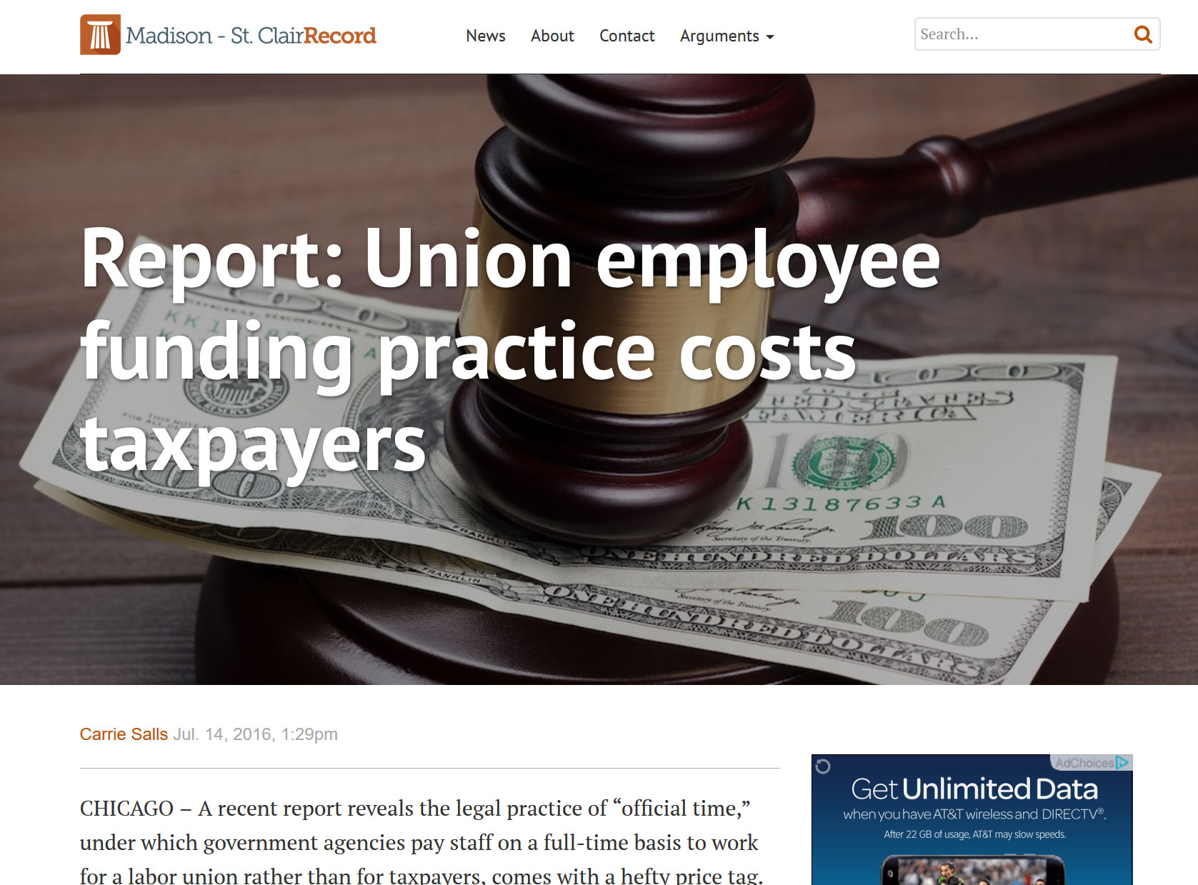 Madison Record|Report: Union employee funding practice costs taxpayers