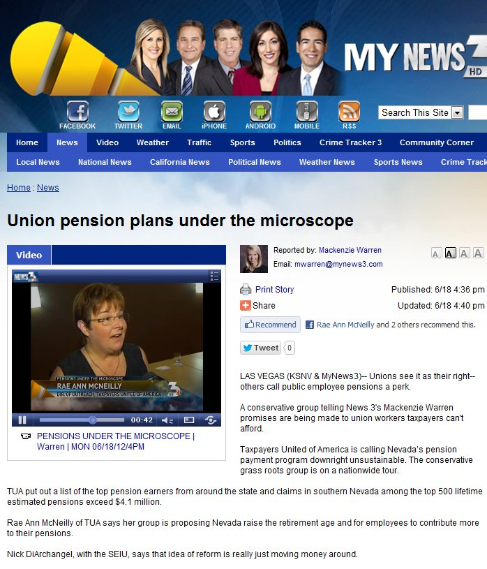 KSNV NEWS 3 | Union pension plans under the microscope