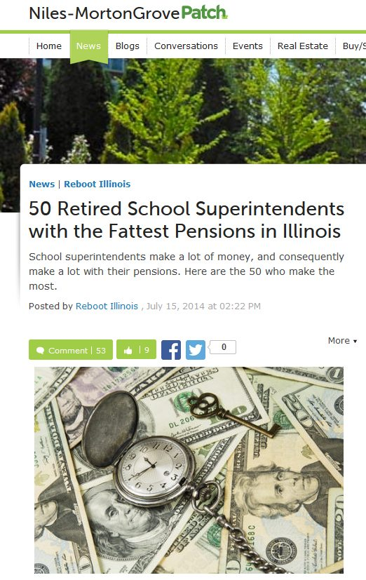 Niles-Morton Grove Patch | 50 Retired School Superintendents with the Fattest Pensions in Illinois