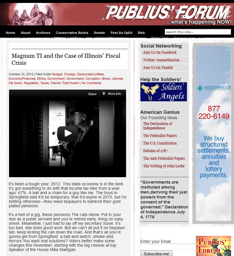 Publius Forum | Magnum TI and the Case of Illinois' Fiscal Crisis