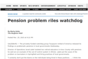 The Register-Mail|Pension problem riles watchdog