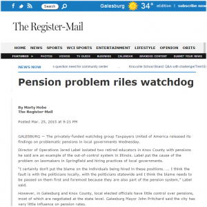 The Register-Mail|Pension problem riles watchdog