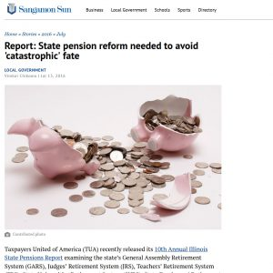 Sangamon Sun|Report: State pension reform needed to avoid 'catastrophic' fate