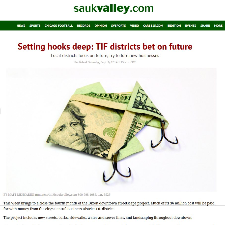 Sauk Valley Media | Setting hooks deep: TIF districts bet on future
