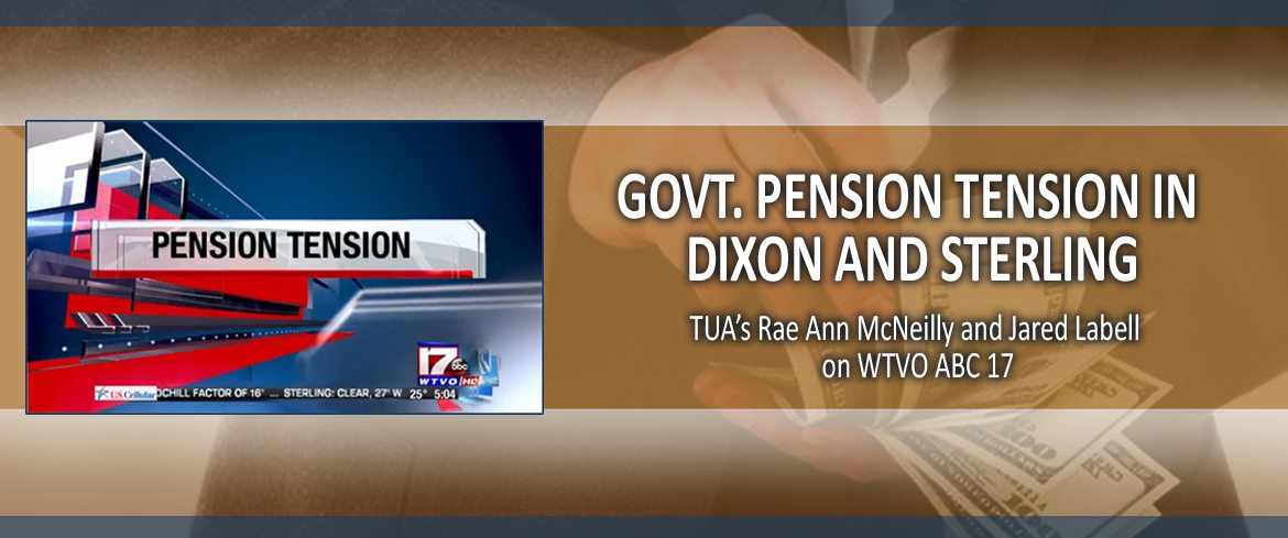Govt. Pension Tension in Dixon and Sterling
