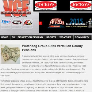 Vermilion County First|Watchdog Group Cites Vermilion County Pensions