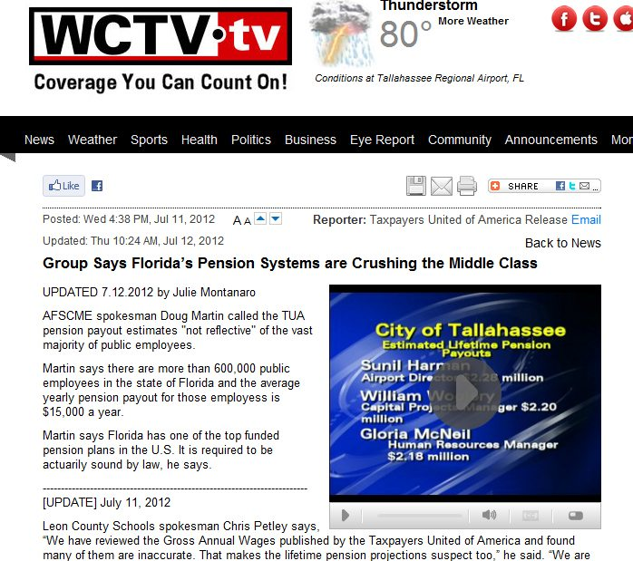 WCTV Eyewitness News | Group Says Florida's Pension Systems are Crushing the Middle Class
